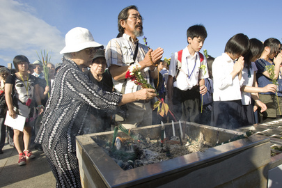 Secretary-General Attends Hiroshima Peace Memorial Ceremony