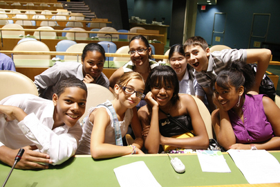 "Young people attend the launch of the 2010 International Year of Youth on the theme ""Dialogue and Mutual Understanding"", inside the General Assembly Hall, at UN Headquarters. International Youth Day is celebrated annually 12 August. 12 August 2010 United Nations, New York"