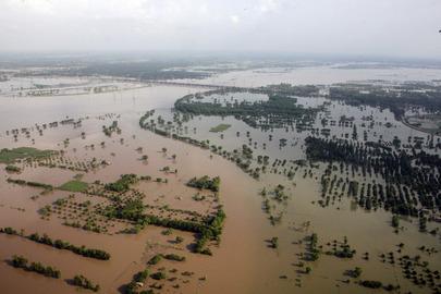 Enchentes que atingiram o Paquistão pelo segundo ano consecutivo
