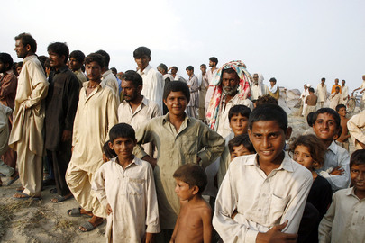 Pakistan Flood Victims Displaced into Camp