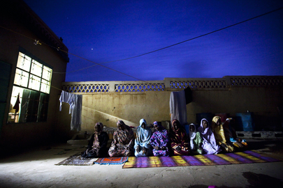 Women Gather for Ramadan Prayer in North Darfur