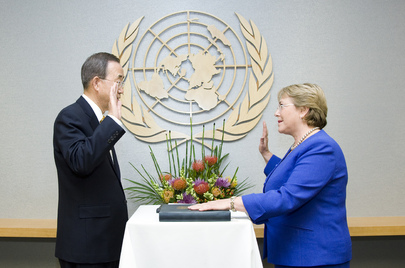 Secretary-General Swears in Head of UN Women