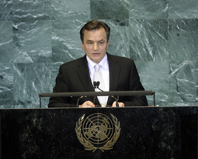 Chair of Bosnian Presidency Addresses General Assembly
