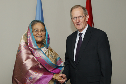 General Assembly President Meets Prime Minister of Bangladesh