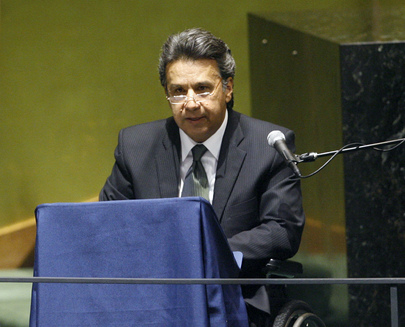 Vice-President of Ecuador Addresses General Assembly