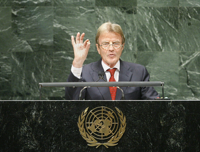 Foreign Minister of France Addresses General Assembly