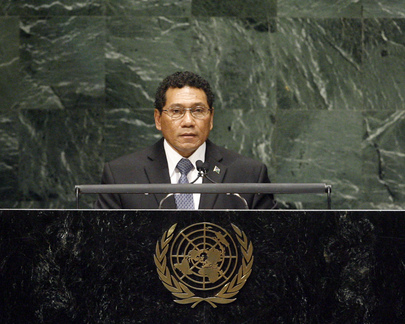 Foreign Minister of Solomon Islands Addresses General Assembly