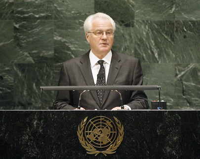 Permanent Representative of Russia Addresses General Assembly
