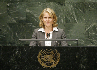 Representative of Norway of Addresses General Assembly