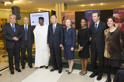 Secretary-General Attends Reception for Fund to Fight AIDS, TB, Malaria