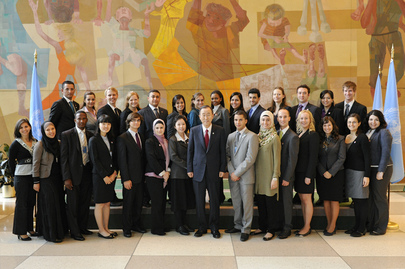 Secretary-General Meets General Assembly Youth Delegates