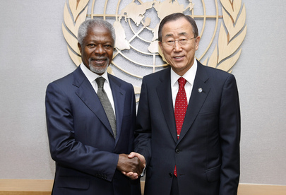 Secretary-General Meets Former UN Head Kofi Annan