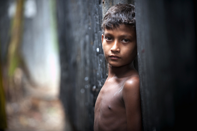 Child in Bangladesh Slum