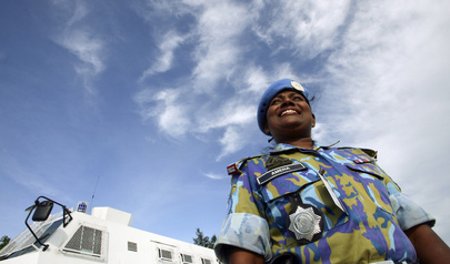 Bangladesh FPU Officer on Duty in Timor-Leste