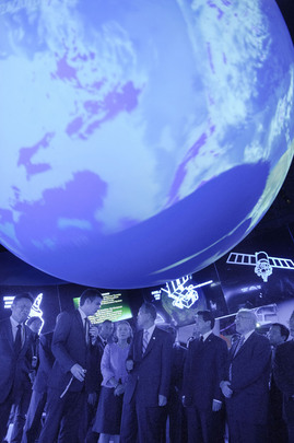 Secretary-General Visits Meteo World Pavilion at 2010 Shanghai Expo