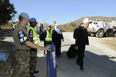 Druze Pilgrims Pass UNDOF Police Checkpoint