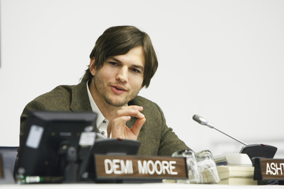 Actor Ashton Kutcher Speaks at Launch of UN Fund for Trafficking Victims