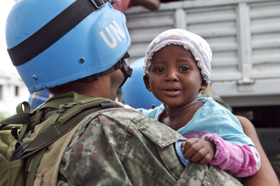 MINUSTAH and IOM Relocate Haiti Camp Residents before Storm