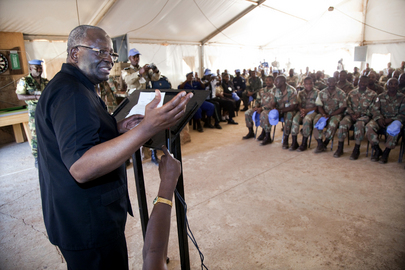 UNAMID Chief Visits Malha Team Site, North Darfur
