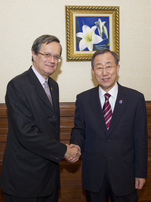 Secretary-General Meets Head of OSCE in Kazakhstan