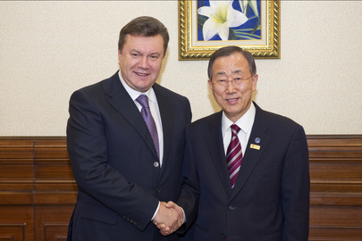 Secretary-General Meets President of Ukraine ahead of OSCE Summit