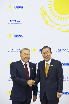 Secretary-General Meets President of Kazakhstan at OSCE Summit
