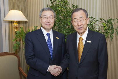 Secretary-General Meets Republic of Korea Foreign Minister at OSCE Summit