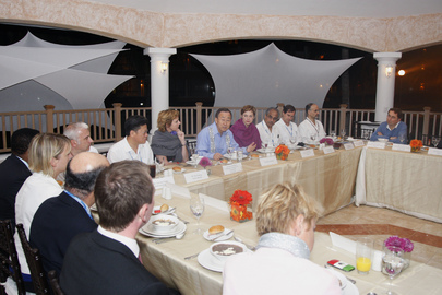 Secretary-General Hosts Dinner with E.U. Leaders in Cancun, Mexico