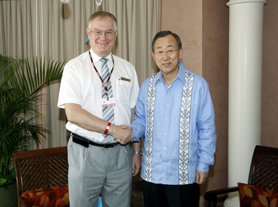 Secretary-General Meets Head of WMO at Cancun Climate Change Summit