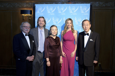 Secretary-General and Wife Attend the 2010 UNCA Awards