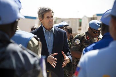 U.S. Senator John Kerry Visits UNAMID Team Site in Darfur