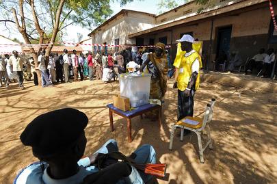 Voting in Southern Sudan Referendum