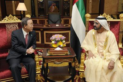 Secretary-General Meets U.A.E. Prime Minister and Emir of Dubai