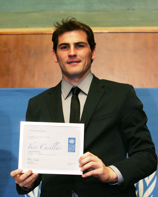 Football Star Iker Casillas Named UNDP Goodwill Ambassador