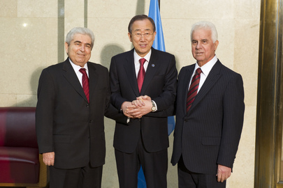 Secretary-General Meets Turkish and Greek Cypriot Leaders in Geneva