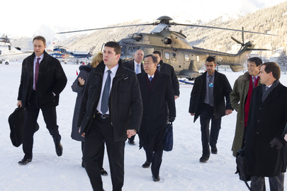 Secretary-General Arrives in Davos for World Economic Forum