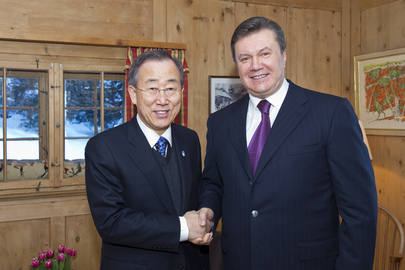Secretary-General Meets President of Ukraine in Davos
