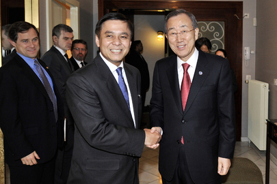 Secretary-General Meets President of Rights Council in Geneva