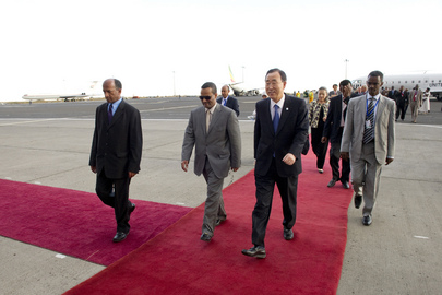 Secretary-General Arrives in Ethiopia to Attend AU Summit