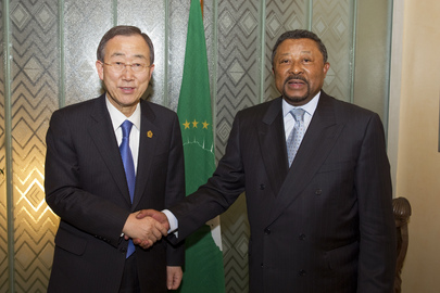 Secretary-General Meets A.U. Chair in Addis Ababa