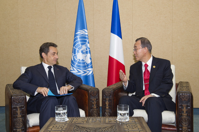 Secretary-General Meets with President of France