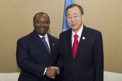 Secretary-General Meets with President of Gabon