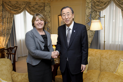 Secretary-General Meets Head of Oxfam Great Britain
