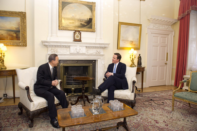 Secretary-General Meets U.K. Prime Minister in London