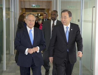 Secretary-General Meets IMO Chief in London