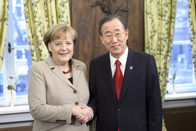 Secretary-General Meets Chancellor of Germany in Munich
