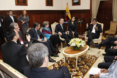 Secretary-General Meets President of Ecuador in Quito