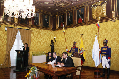 Secretary-General and Ecuadorean President Brief Press