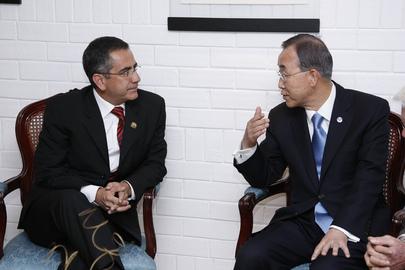 Secretary-General Meets Mayor of Quito, Ecuador