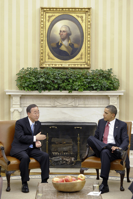 Secretary-General and U.S. President Meet on Libyan Crisis